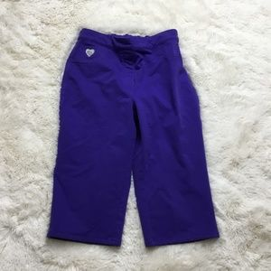 Quacker Factory Dream Jeannes Purple Capris